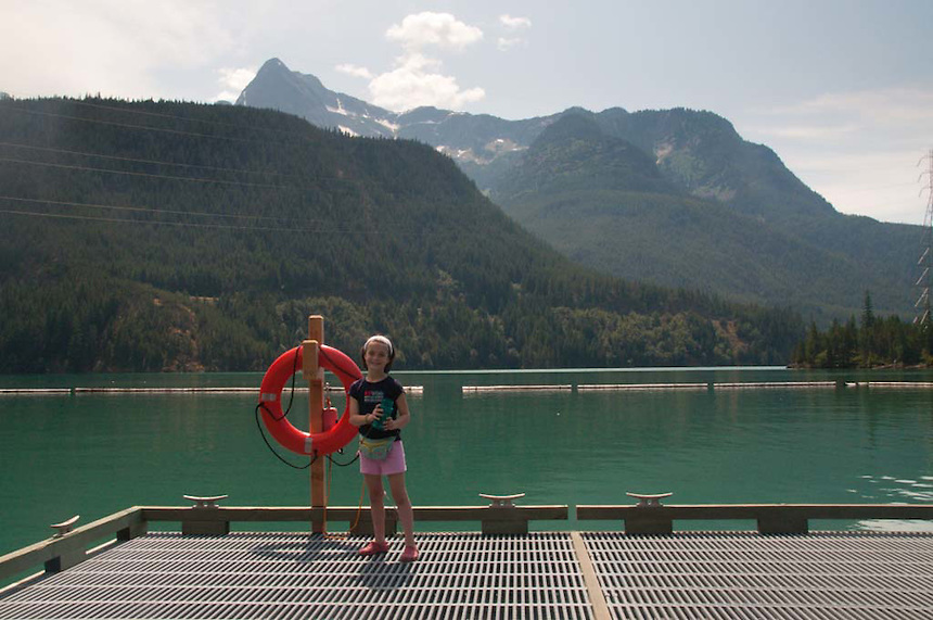 Eliza at Diablo Lake, North Cascades National Park, Washington, US