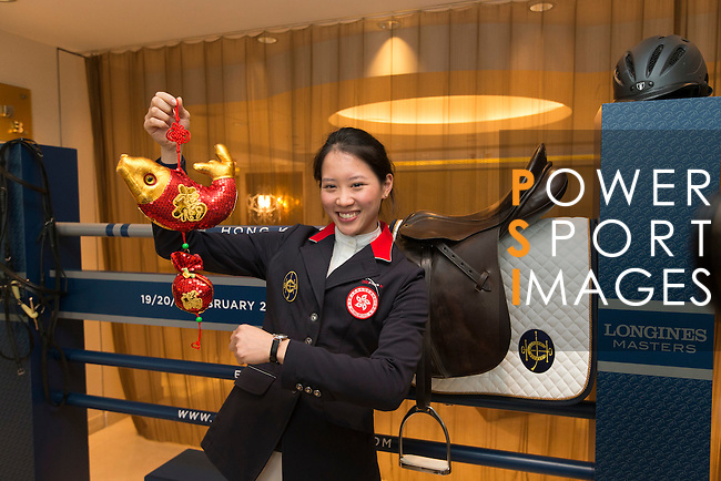 Jacqueline Lai, Masters rider,  at Longines Hong Kong Masters official press conference at the Happy Valley Racetrack on February 02, 2016 in Hong Kong.  Photo by Victor Fraile / Power Sport Images