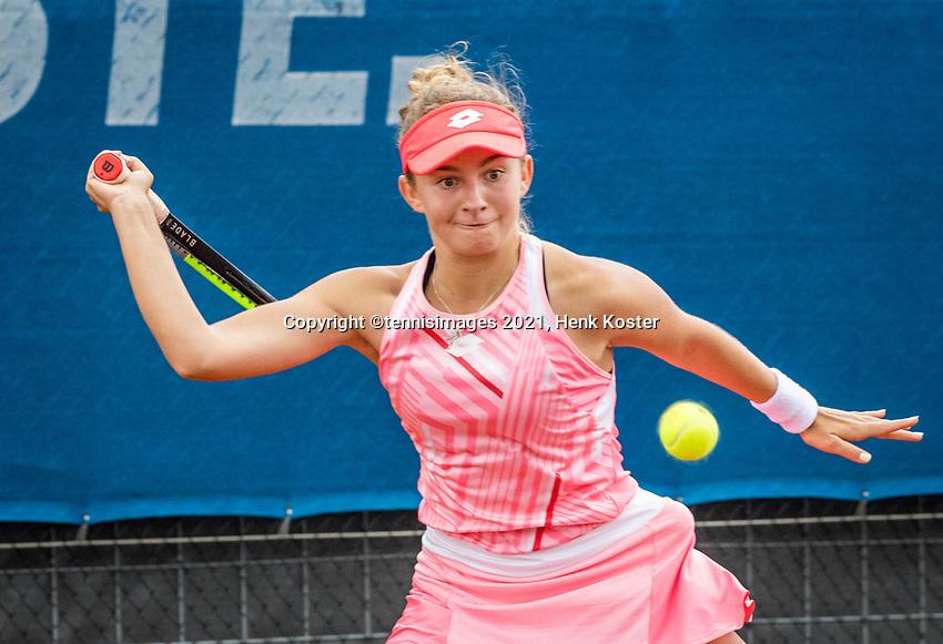 Amstelveen, Netherlands, 5  Juli, 2021, National Tennis Center, NTC, AmstelveenWomans Open,  Daniela Vismane (LAT)<br /> Photo: Henk Koster/tennisimages.com