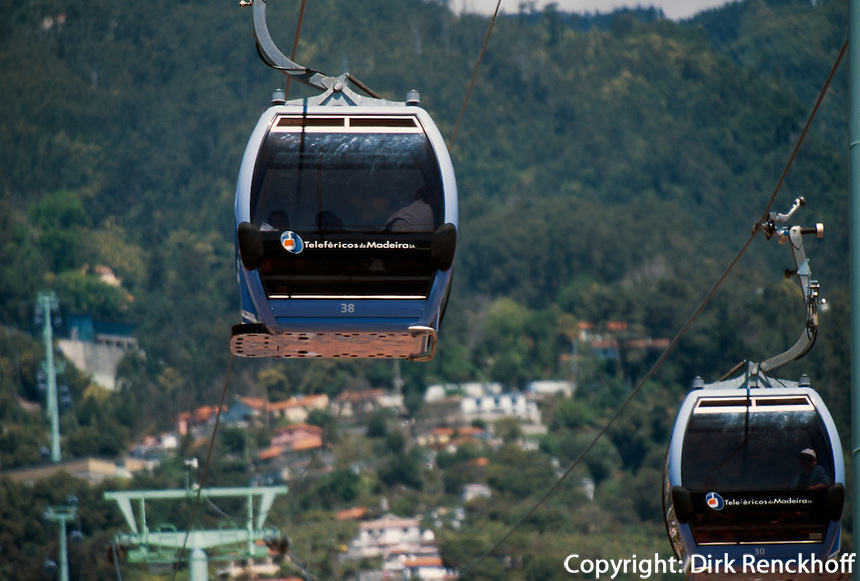 Portugal, Madeira, Seilbahn von Funchal nach Monte
