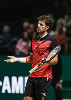 Rotterdam, The Netherlands, 11 Februari 2019, ABNAMRO World Tennis Tournament, Ahoy, first round match: <br /> Robin Haase (NED),<br /> Photo: www.tennisimages.com/Henk Koster