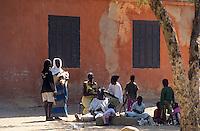 Afrique/Afrique de l'Ouest/Sénégal/Gorée : Scène de rue