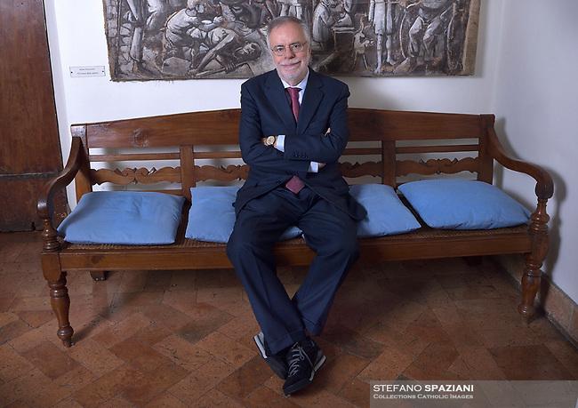Andrea Riccardi, founder of the Community of Sant'Egidio. January 5, 2018