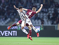 TORINO ITALY- October 2 <br /> Stadio Olimpico Grande Torino<br /> Weston Mckennie Tommaso Pobega<br /> during the Serie A match between Fc  Torino and Juventus Fc at Stadio Olimpico on October 2, 2021 in Torino, Italy.
