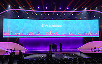 EM Spielort St. Petersburg auf der Videowand - 30.11.2019: UEFA EURO2020 Auslosung, Romexpo Bukarest, DISCLAIMER: UEFA regulations prohibit any use of photographs as image sequences and/or quasi-video.