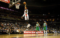 Charlotte Bobcats Gerald Wallace dunk the ball during an NBA basketball game Time Warner Cable Arena in Charlotte, NC.