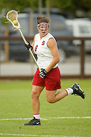 STANFORD, CA - MARCH 26: Nina Pantano of the Stanford Cardinal during Stanford's 9-8 (OT) win over the Hofstra Pride on March 26, 2004 at Maloney Field in Stanford, California.