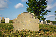 1779 headstone at North Cemetery in Portsmouth, New Hampshire.
