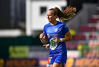 Gent's Lobke Loonen (19)  pictured during a female soccer game between Zulte Waregem and the KAA Gent Ladies on the fourth matchday of the 2020 - 2021 season of Belgian Scooore Womens Super League , saturday 10 October 2020  in Waregem , Belgium . PHOTO SPORTPIX.BE | SPP | DAVID CATRY