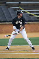 Will Craig (22) of the Wake Forest Demon Deacons at bat against the Towson Tigers at Wake Forest Baseball Park on March 1, 2015 in Winston-Salem, North Carolina.  The Demon Deacons defeated the Tigers 15-8.  (Brian Westerholt/Four Seam Images)