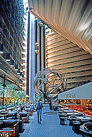 "San Francisco:  Hyatt Hotel Interior. John Portman & Assoc., 1972. Sculpture ""Eclipse"" by Charles O. Perry. Photo '83."