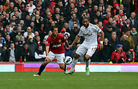 Pictured: (L-R) Javier Hernandez, Ashley Williams.<br />