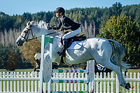 NZL-Aliya Berry rides Pintado Bravo. Class 24: Horse 1.00m Ranking Class. 2021 NZL-Easter Jumping Festival presented by McIntosh Global Equestrian and Equestrian Entries. NEC Taupo. Saturday 3 April. Copyright Photo: Libby Law Photography