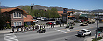 Carson City Sheriff's and other law enforcement representatives run the memorial baton into downtown Carson City, Nev., on Wednesday, May 3, 2017. The 20th annual Nevada Law Enforcement Memorial ceremony will be tomorrow.<br /> Photo by Cathleen Allison/Nevada Photo Source