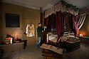 12/11/15<br /> <br /> Ebenezer Scrooge's bed chamber - A Christmas Carol.<br /> <br /> 15/11/15<br /> <br /> Fifty years after being jilted by her lover and stopping the clocks in Statis House, Miss Haversham, still wearing her wedding dress, stands by her wedding breakfast table in a room themed around Charles Dickens' Great Expectations. <br /> <br /> It is one of seven rooms at Tissington Hall, Derbyshire portraying different scenes from Dickens novels as part of the Hall's 'What The Dickens?' event that will be showing a darker side to Christmas. Tissington Hall set in The Peak District near Ashbourne is said to be haunted. Tours starting next week will allow visitors to search for ghosts and experience the spookier side of Christmas.<br /> <br /> Tissington Hall is one of only a few stately homes still owned and lived in by its original family. In fact the table where Miss Haversham's  wedding breakfast is laid out is where the Fitzherbert family will eat their Christmas Dinner.<br /> <br /> Many of the rooms have never been seen by the public before. Indeed, Scrooge's bedchamber has been unused for a about one hundred years - it was full of junk, including old mattresses before being transformed into one of the Dickens rooms.<br /> <br /> Props used throughout are almost entirely objects found in the house. Bottles of wine, still covered in dust, that were discovered recently in the cellar, add to the eerie look in Miss Haversham's wedding breakfast room. Toys in the children playroom were once played with by young members of the Fitzherbert family, and deeds, and plans on show in Mr Tulkinghorn's law office are all original document and plans found in Tissington Hall's library.<br /> <br /> All Rights Reserved: F Stop Press Ltd. +44(0)1335 418365   www.fstoppress.com.