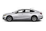 Car driver side profile view of a 2020 Chevrolet Malibu LT 4 Door Sedan
