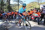 Jakob Fuglsang (DEN) Astana-Premier Tech on the final climb of Ermualde during Stage 3 of the Itzulia Basque Country 2021, running 167.7km from Amurrio to Laudi/Ermualde, Spain. 7th April 2021.  <br /> Picture: Luis Angel Gomez/Photogomezsport | Cyclefile<br /> <br /> All photos usage must carry mandatory copyright credit (© Cyclefile | Luis Angel Gomez/Photogomezsport)