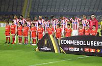 QUITO-ECUADOR, 11-03-2020: Jugadores de Atletico Junior antes de partido de la fase de grupos, grupo A, fecha 2, entre Independiente del Valle (ECU) y Atletico Junior (COL) por la Copa Conmebol Libertadores 2020, en el estadio Olimpico Atahualpa, de la ciudad Quito. / Players of Atletico Junior, prior a match of the groups phase, group A, 2nd date, between Independiente del Valle (ECU) and Atletico Junior (COL) for the Conmebol Libertadores Cup 2020, at the Olimpico Atahualpa in Quito. / Photo: VizzorImage / Andres Pina / PressSouth / Cont.