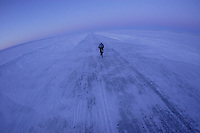 Biker Thomas Muhler on the iceroad from Whitehorse to Tuktoyaktok, 1600 km with temperatures of minus 46 degrees.<br /> <br /> Full story with photos and text available!