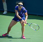 Anastasia Pavlyuchenkova (RUS) loses to Maria Sharapova (RUS) 6-4, 7-6 at the Western & Southern Open in Mason, OH on August 14, 2014.