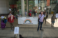 NEU members protest government reopening proposals in Hackney 7-5-20