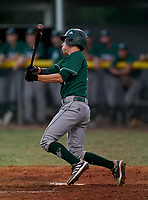 Venice Indians Stephen Deans (14) bats bats during a game against the Braden River Pirates on February 25, 2021 at Braden River High School in Bradenton, Florida.  (Mike Janes/Four Seam Images)