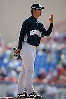 February 25, 2009:  Pitcher Kei Igawa (29) of the New York Yankees during a Spring Training game at Dunedin Stadium in Dunedin, FL.  The New York Yankees defeated the Toronto Blue Jays 6-1.   Photo by:  Mike Janes/Four Seam Images