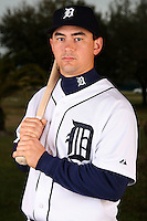February 27, 2010:  Catcher John Murrian (74) of the Detroit Tigers poses for a photo during media day at Joker Marchant Stadium in Lakeland, FL.  Photo By Mike Janes/Four Seam Images