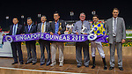 MAY 15 ,2015: Affleck,ridden by Michael Rodd,wins the Singapore Guineas at Kranji in Kranji,Singapore. Kazushi Ishida/ESW/CSM