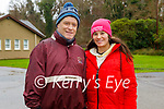 Liam O'Connor and his daughter Saoirse  enjoying a stroll in the Killarney National park on Friday