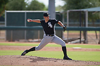 Chicago White Sox pitcher Hunter Kiel (57) delivers a pitch to the plate during an Instructional League game against the San Diego Padres on September 26, 2017 at Camelback Ranch in Glendale, Arizona. (Zachary Lucy/Four Seam Images)
