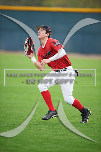 Tayler Aguilar (17) of Northridge High School in Evans, Colorado during the Under Armour All-American Pre-Season Tournament presented by Baseball Factory on January 14, 2017 at Sloan Park in Mesa, Arizona.  (Mike Janes/Mike Janes Photography)
