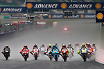 KUALA LUMPUR, MALAYSIA - OCTOBER 25: Riders in action at the start of the Malaysian MotoGP, which is round 16 of the MotoGP World Championship at the Sepang Circuit on October 25, 2009 in Kuala Lumpur, Malaysia. Photo by Victor Fraile / The Power of Sport Images