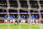 Deportivo Alaves squad warming up during the La Liga 2017-18 match between Atletico de Madrid and Deportivo Alaves at Wanda Metropolitano Stadium on 16 December 2017 in Madrid, Spain. Photo by Diego Souto / Power Sport Images