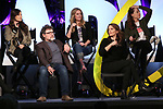 Ashley Parker, Jeff Richmond, Taylor Louderman, Tina Fey and Erika Henningsen on stage during Broadwaycon at New York Hilton Midtown on January 11, 2019 in New York City.
