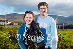 Clionagh Quirke and Jack Murphy taking Molly the dog for a walk Cliona Quirke and Jack Murphy in Blennerville on Thursday