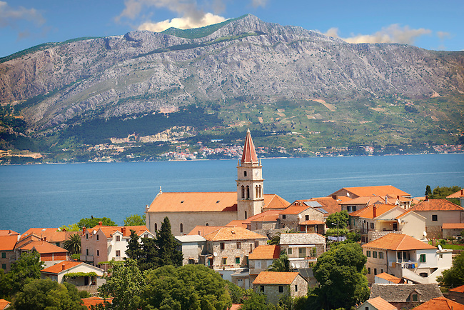 The Dalmatia coast from Splitska on Bra? island, Croatia