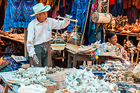 Chichicastenango, Guatemala.  Vendor Selling Chalk, used in Whitewash and in Making Tortillas.