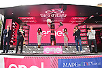Egan Bernal (COL) Ineos Grenadiers retains the leaders Maglia Rosa at the end of Stage 13 of the 2021 Giro d'Italia, running 198km from Ravenna to Verona, Italy. 21st May 2021.  <br /> Picture: LaPresse/Massimo Paolone | Cyclefile<br /> <br /> All photos usage must carry mandatory copyright credit (© Cyclefile | LaPresse/Massimo Paolone)