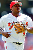 4 September 2005: Deivi Cruz, infielder for the Washington Nationals,trots back to the dugout in a game against the Philadelphia Phillies. Cruz went 1 for 3 for the day, as the Nationals defeated the Phillies 6-1 at RFK Stadium in Washington, DC. Mandatory Photo Credit: Ed Wolfstein.