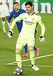 Real Madrid's Thibaut Courtois during UEFA Champions League Semi-finals 1st leg match. April 27,2021.(ALTERPHOTOS/Acero)