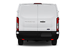 Straight rear view of a 2019 Ford Transit Van 250 LR 4 Door Cargo Van stock images