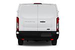 Straight rear view of a 2019 Ford Transit Van 250 LR 4 Door Cargo Van stock images