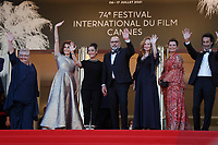 """CANNES, FRANCE - JULY 13: Danielle Fichaud, Valerie Lemercier, Victoria Sio, Sylvain Marcel, Pascale Desrochers, Sidonie Dumas, Edouard Weil  at the """"Aline, The Voice Of Love"""" screening during the 74th annual Cannes Film Festival on July 13, 2021 in Cannes, France. <br /> CAP/GOL<br /> ©GOL/Capital Pictures"""