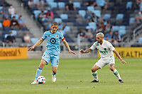 SAINT PAUL, MN - MAY 1: Osvaldo Alonso #6 of Minnesota United FC during a game between Austin FC and Minnesota United FC at Allianz Field on May 1, 2021 in Saint Paul, Minnesota.