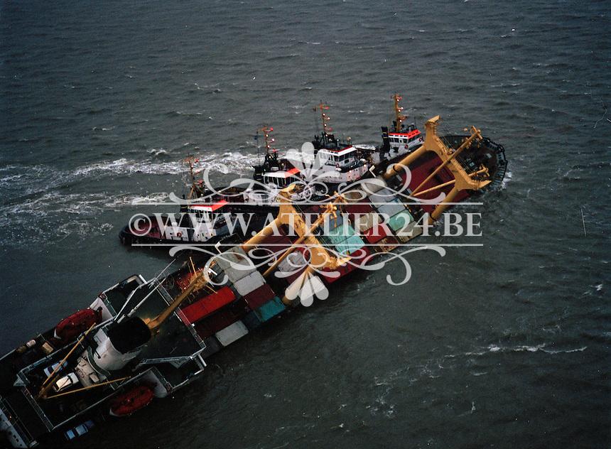 8 December 1994.   8 december 1994. De Pioner Onegi maakte op 8 december 1994 op weg van Antwerpen naar zee, zoveel slagzij dat sleepboten het schip tegen de slikken voor Bath moesten duwen om kapseizen te voorkomen. De Pioner had te veel containers aan boord en was verkeerd geladen.