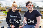 Enjoying a stroll in the Tralee town park on Thursday, l to r: Leah O'Sullivan and Jamie McGee.