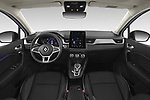 Stock photo of straight dashboard view of 2021 Renault Captur Intense 5 Door SUV Dashboard