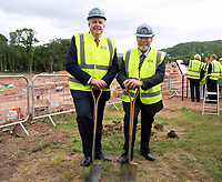 Pictured L-R: Carwyn Jones and Sir Terry Matthews. Friday 23 June 2017<br />Re: First Minister for Wales Carwyn Jones has joined Sir Terry Matthews, Chairman of the Celtic Manor Resort; Stephen Bowcott, Chief Executive of Sisk Group Construction; and Debbie Wilcox, Leader of Newport City Council, to break ground on the site of the new ICC Wales.<br />Around 80 invited guests from the public and private sectors of the events industry have also witnessed the ground breaking ceremony which marks the official start of the construction of the new venue, due to open in 2019.<br />The dignitaries will use commemorative spades to symbolically dig the first ground on the new site, marking the start of building work in earnest.