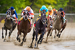 BALTIMORE, MD - MAY 21: Justin Squared #1, ridden by Martin A. Pedroza, leads the field in the fourth turn to win the the Chick Lang Stakes at Pimlico Race Course on May 21, 2016 in Baltimore, Maryland. (Photo by Douglas DeFelice/Eclipse Sportswire/Getty Images)